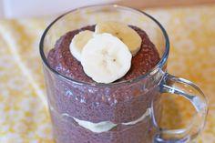 Sarah Bakes Gluten Free Treats: chocolate banana chia seed pudding