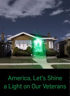 On Veterans Day and beyond, change one light to green and keep it glowing every… Military Quotes, Military Love, Military Honors, Us Vets, Army Mom, Land Of The Free, Support Our Troops, American Pride, God Bless America
