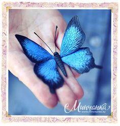 """Brosche """"Schmetterling"""" aus Ton. - Paperblog"""