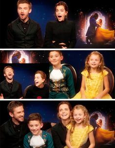 GIFSET TUMBLR | beauty and the beast dan stevens emma watson this is probably the cutest interview i have ever seen so beautiful this took me hourssssss the last gif tho :') interview my gifs little belle and little prince