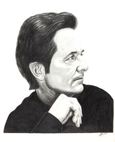 Past, Present and Future. (Future). New better quality digital print image of Michael J Fox in B Drawing pencils.