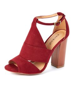 Look what I found on #zulily! Burgundy Embark Sandal #zulilyfinds