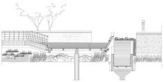 Image 14 of 33 from gallery of Waterfront Park of Aiyi River / BLVD International. Section 3 Architecture Collage, Urban Architecture, Architecture Drawings, Architecture Details, Contemporary Landscape, Landscape Design, Urban Design Diagram, Wetland Park, Jungle House