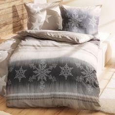 """Bettwäsche """"Schneeflocken"""" aus Feinbiber"""