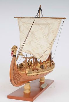 "Although this model of the ""Drakkar Viking"" ship is reflected through more of a natural view, the actual...(continued) http://www.themodelship.com/drakkar_viking_small.html $120"