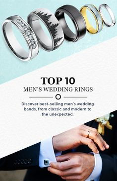 Our best selling men's wedding rings all in one place! Find the perfect ring he will never want to take off. For a limited time all of our Men's Rings are now 25% OFF!
