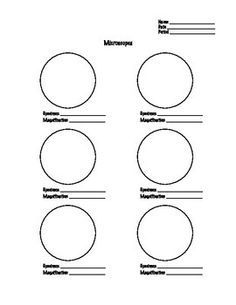Free printable microscope observation worksheet. | Microscopes ...