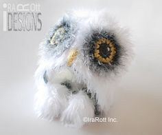 Handmade Crochet Arctic Snow Owl Animal Hat For All Ages www.irarott.com