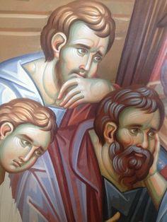 Iconographer Dimitris Maniatis – icoana Fresco, Vignettes, Medieval, Artsy, Awesome, Amazing, Face, Fictional Characters, Faces