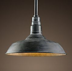 Pendants | Restoration Hardware Vintage Barn Pendant - Weathered Zinc $189-509 sale $209-509