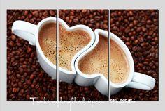 Mẫu tranh đẹp tách cafe tình yêu AmiA 644