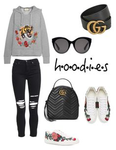 Untitled #57 by anadumy on Polyvore featuring polyvore, fashion, style, Gucci, AMIRI, clothing and Hoodies