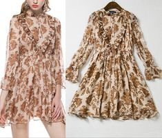 2015 Maple Leaf Printed Cultivate One's Morality Of High-Grade Real Silk Dress on Luulla Petite Prom Dress, Simple Prom Dress, Plus Size Prom Dresses, Short Dresses, Ol Fashion, Fashion Dresses, Leaf Prints, Silk Dress, Fur Coat