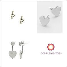 Elige tu favorito en plata 925 ó goldfilled: Double sided earrings   ó  ?  Contactanos : 809 853 3250 / 809 405 5555  Delivery  Envoltura disponible   #newarrivals #available #earrings #doublesided #silver #music #heart #glam #chic #accesories #byou #becomplete