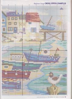 Harbour part 2 free cross stitch pattern