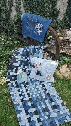 Maryval / Koberec recy denim Picnic Blanket, Outdoor Blanket, Denim, Jeans, Picnic Quilt, Denim Pants, Denim Jeans