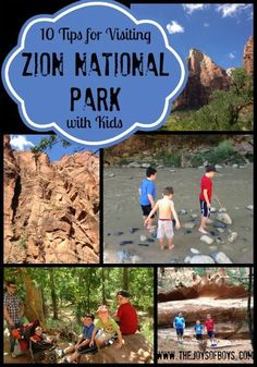 Zion National Park with Kids | The Joys of Boys - this is a great and simple list. Love it.