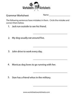 Printables Grammar Practice Worksheets english grammar worksheets and printables on pinterest practice worksheet printable