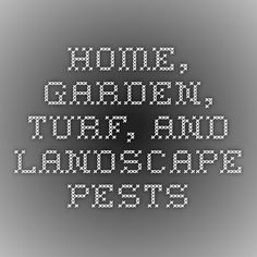 Home, garden, turf, and landscape pests UC IPM Online