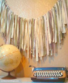 FABRIC GARLAND Ribbon BANNER // custom Garland by NorthernCottage