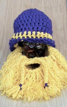 crochet beard Go Vikings fan Beard
