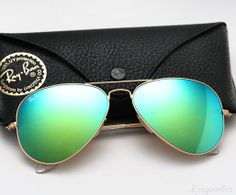 Ray-Ban Mirrored Aviator Sunglasses   Shop Ray Ban Aviator Colored Mirror sunglasses >>