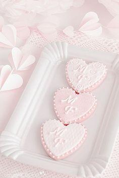 Pretty Pastel, Pastel Pink, Deco Rose, Caramel Cookies, Heart Cookies, Pink Cookies, Cute Desserts, Everything Pink, Cute Food