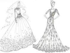 7 #Designer Bridal Gown Sketches for Kate Middleton...
