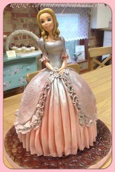 princess cakes fondant figuriens | Found on cakesdecor.com
