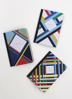 THE 3 RIBBONS, 3 pocket notebooks by Papier Tigre