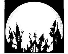 nightmare before christmas town silhouette - Google Search