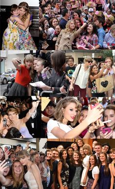 Collage I decided to put together with Taylor and her fans! :) <3