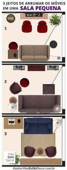 3 jeitos de arrumar os móveis em uma sala pequena (que não envolvem um rack de TV) • Assine MeuEstiloDecor