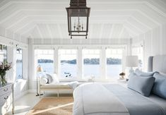 10 Favorite Bedrooms for Sweet Dreams Cape Cod, Wooden Door Paint, Upholstered Walls, Boston Interiors, New England Homes, Fireplace Surrounds, Open Plan Living, House And Home Magazine, Elegant Homes