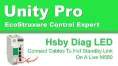 Connect Cables To Hot Standby Link On A Live M580 Software Development, Unity, Connection, Technology, Live, Hot, Youtube, Tech, Tecnologia