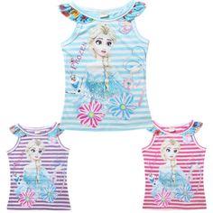 2015-Kids-Girls-Summer-Tops-T-Shirts-Cartoon-Casual-Clothes-Short-Sleeve-3-10-Y ****************************************  eBay: גופיה של אנה ואלזה מ-20 ₪ + משלוח חינם! 3 צבעים לבחירה