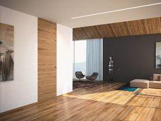 Puerta a ras de pared de madera B-LINE Colección B-Line by BLUINTERNI