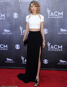 The epitome of sophistication: Taylor Swift wowed on the ACM Awards red carpet in a this grown up ensemble on Sunday, a marked departure fro...