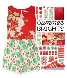 """""Summer Brights"" - Contest"" by arierrefatir ❤ liked on Polyvore featuring Oasis, Gucci, adidas Originals, Domo Beads, Guerlain, Coach, Vitra, Christian Dior, J.Crew and Typhoon"