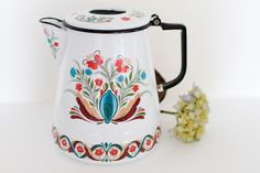 Classic Swedish Design Flower Kettle via Etsy.