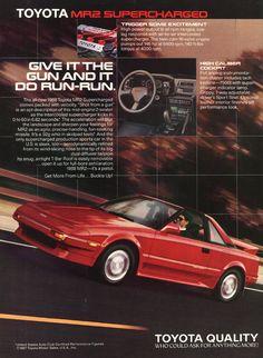 Toyota – One Stop Classic Car News & Tips Ae86, Toyota Mr2, Car Brochure, Japan Cars, Car Advertising, Car Posters, Sweet Cars, Jdm Cars, Retro Cars