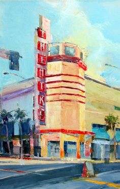 Original urban oil paintings by artist April Raber