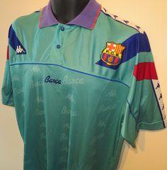 Rare 92-95 Barcelona away shirt by Kappa