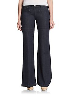 Clearance price: $55   AG Adriano Goldschmied Wide-Leg Flared Jeans