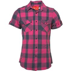 TOPMAN - PINK AND PEWTER CHECK SHIRT ❤ liked on Polyvore featuring men's fashion, men's clothing, men's shirts, men's casual shirts, mens checkered shirts, topman mens shirts, mens pink shirts and mens checked shirts