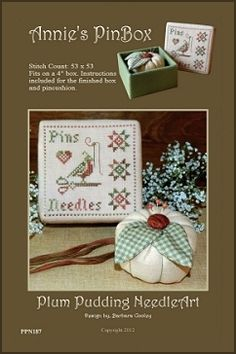 Plum Pudding NeedleArt - Annie's Pin Box