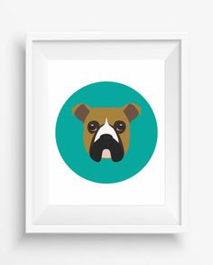 Boxer print, Boxer Cute Dog Print,Puppy,Puppy watercolor,Pet Decor,digital Prints,instant Download,home decor,