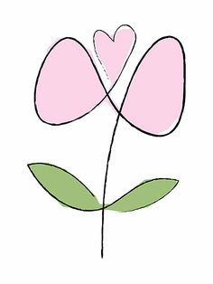 Simple line flower at Redbubble