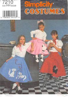 Misses Poodle Skirt Costume Butterick 4114 Vintage Sewing Pattern