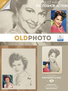 Old Photo Effect Photoshop Action. Actions. $5.00